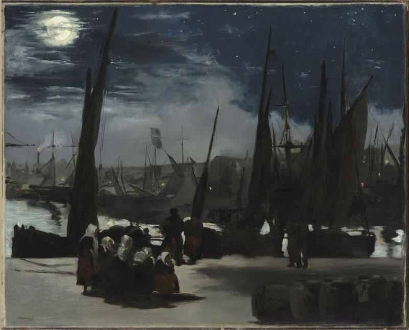 Clair de lune, ou Clair de lune sur le port de Boulogne par Edouard Manet, 1868