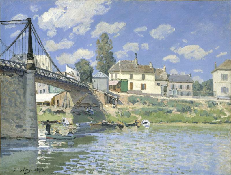 Le Pont à Villeneuve-la-Garenne par Alfred Sisley, 1872