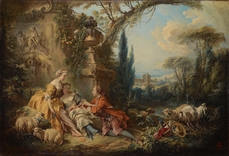 Fragonard amoureux galant et libertin musee du luxembourg for Boucher peintre