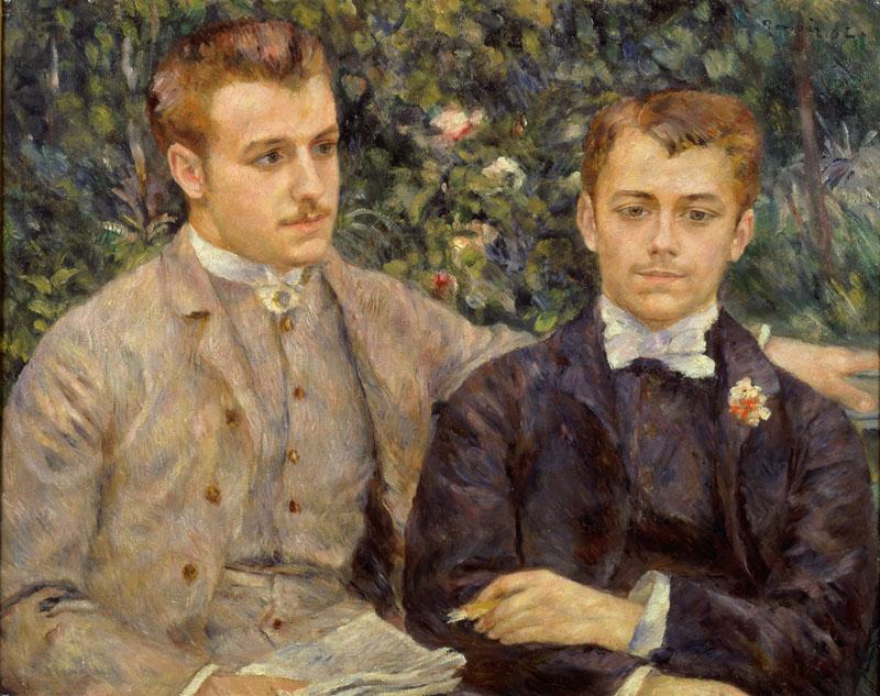 Charles et Georges Durand-Ruel par Pierre Auguste Renoir, 1882