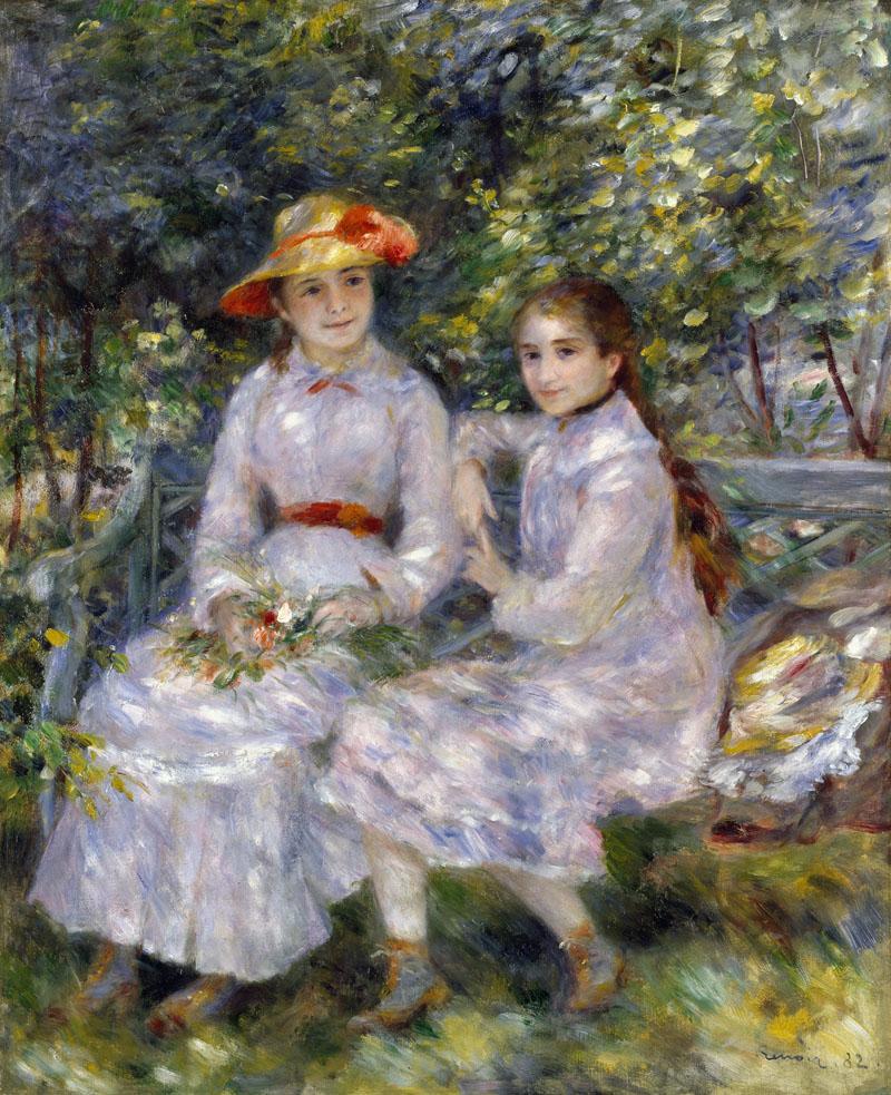 Les Filles de Paul Durand-Ruel, Marie Thérèse et Jeanne par Pierre Auguste Renoir, 1882