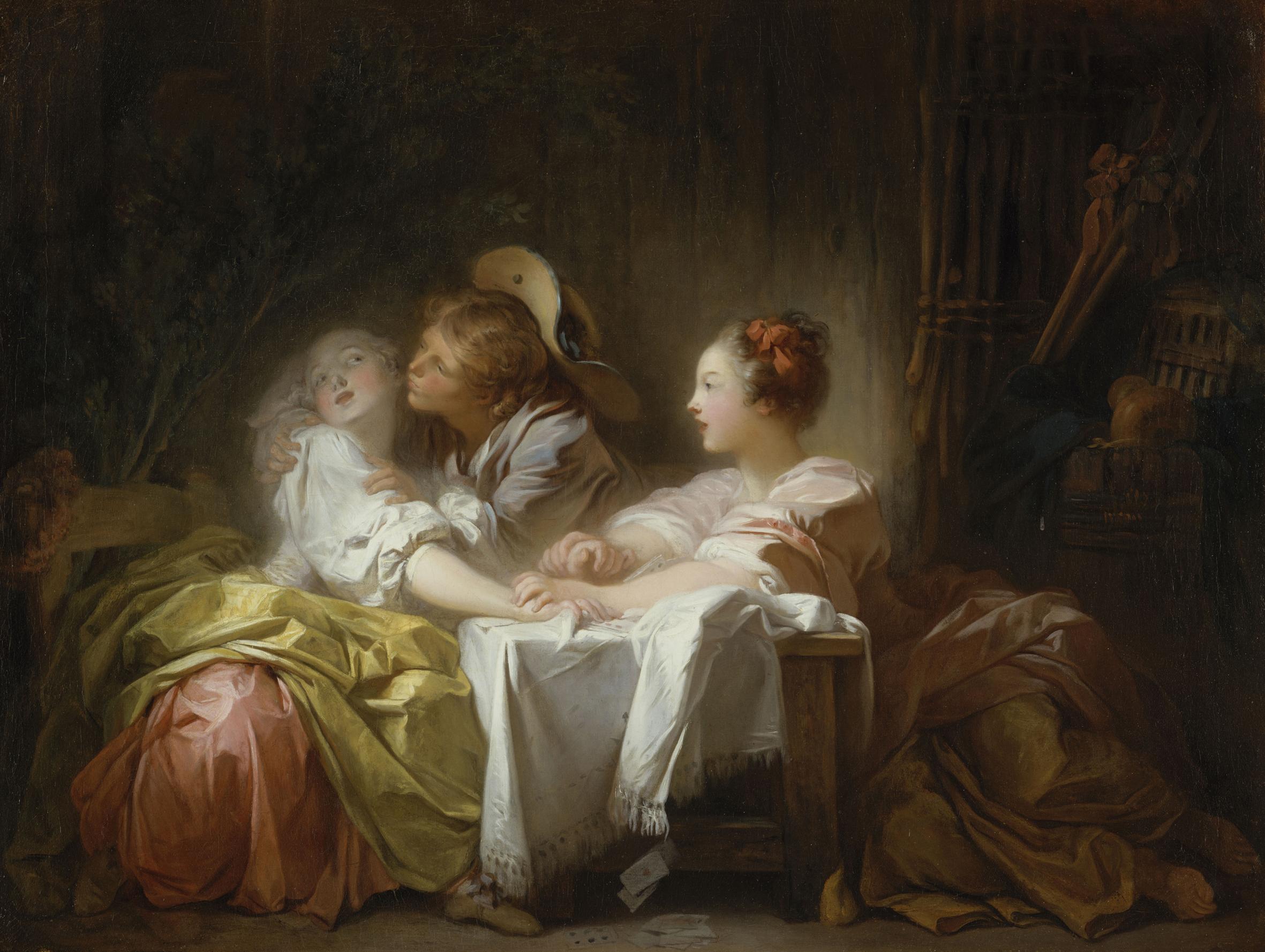 L enjeu perdu ou le baiser gagn - Sensual paintings for the bedroom ...
