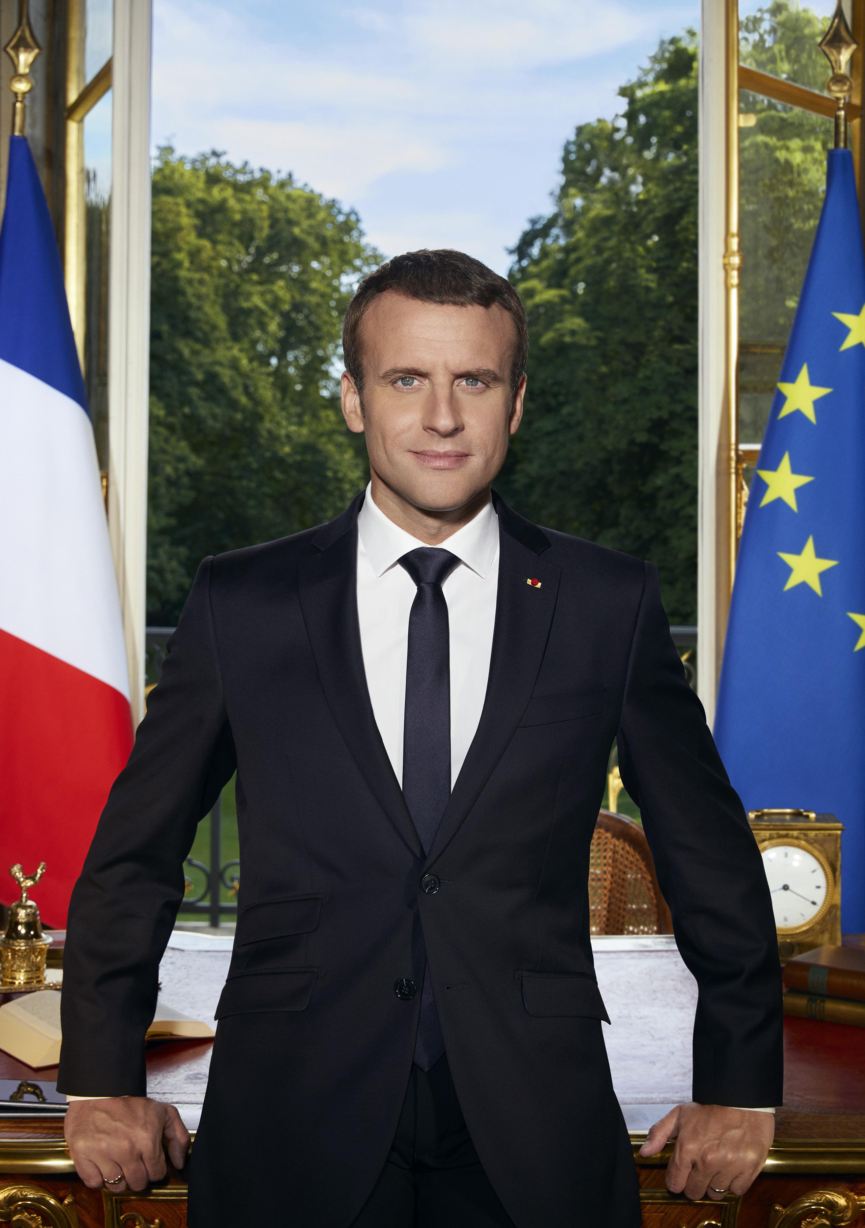 Portrait officiel du Président de la République. © DILA – La Documentation française / Soazige de la Moissonnière.